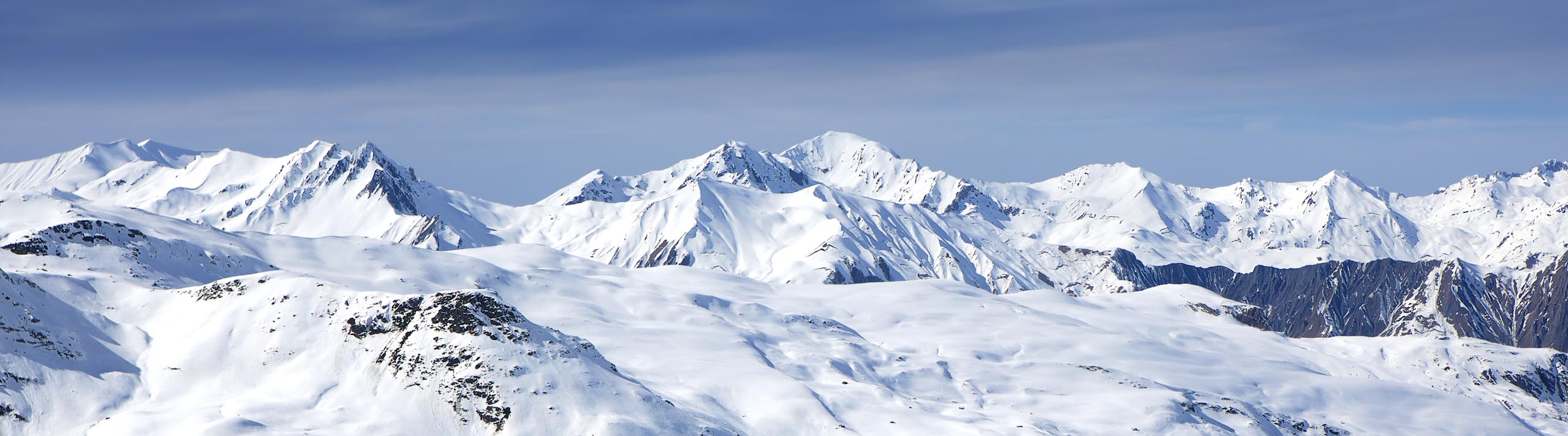 Landscape Photograph The French Alps of snow on a mountain range by Nick Oakley Photography