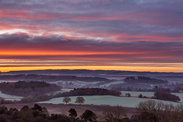 New Photograph Sunrise Newlands Corner, cover for the New images gallery by Nick Oakley Photography