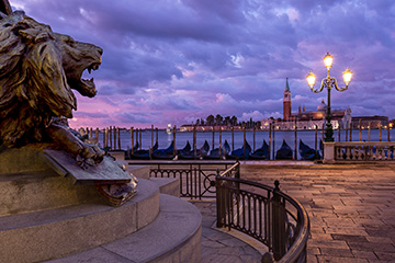 Venice Photograph Morning Clouds, Grand Canal, cover for the Venice images gallery by Nick Oakley Photography